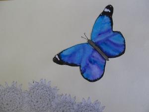 Karolína Kaasová - Motýl nad květinou