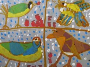 Kateřina Burdová - Ptáčci v zimě