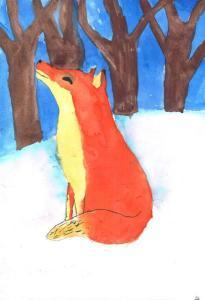 Adéla Kouřilová - Liška v zimě