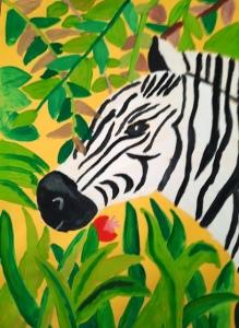 Anežka Schusterová - Zebra a vegetace