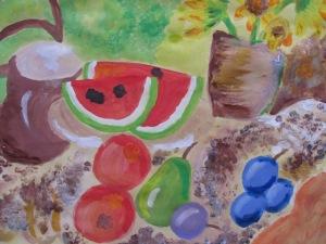 Lucie Burdíková- Zátiší s ovocem